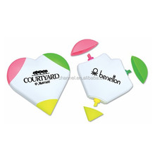 Wholesale custom novelty 3-Color Heart Highlighter