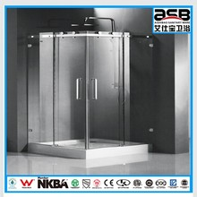 luxury and big size 8mm Tempered Glass shower enclosure ningbo tray