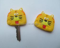 Promotion solution rubber key head cover custom key cover