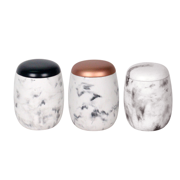 New Marble Style Candle Jar Or Container Decorative Ceramic Concrete Beauteous Decorative Ceramic Jars With Lids