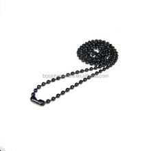 Fashion High Quality Metal 36'' Necklace Ball Bead Chain Black