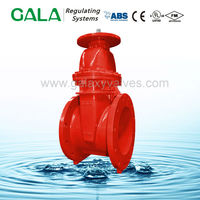 FM UL Approved Resilient Seal NRS Type-Flanged Ends api stem pn10/16 10 inch gate valve