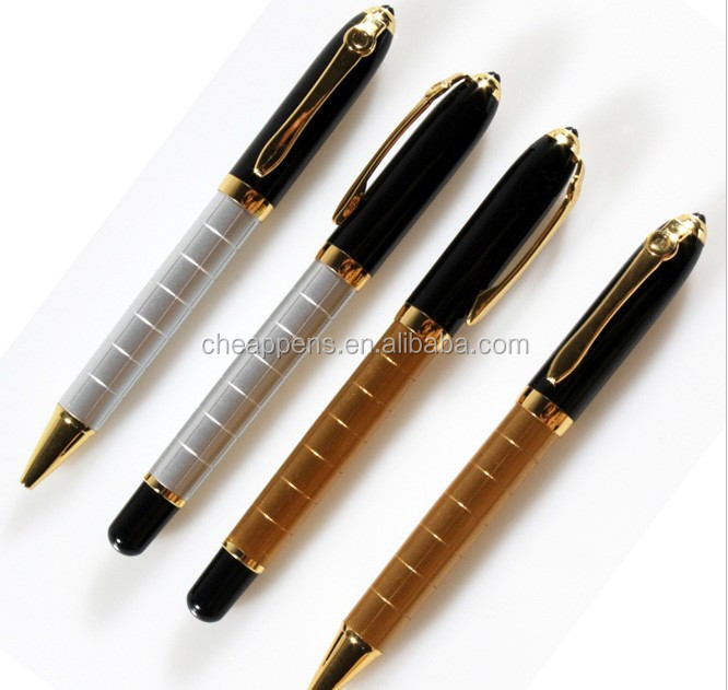 metal heavy luxury ball pen with gold barrel for promotion roller ball pen business.jpeg