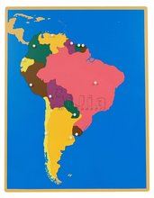 Montessori equipment-puzzle map of south America montessori teaching materials