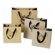 Personalized paper bag twisted handle with gold stamping