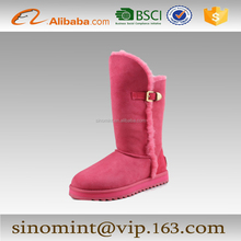 colorful sheepskin long boots for women and ladies