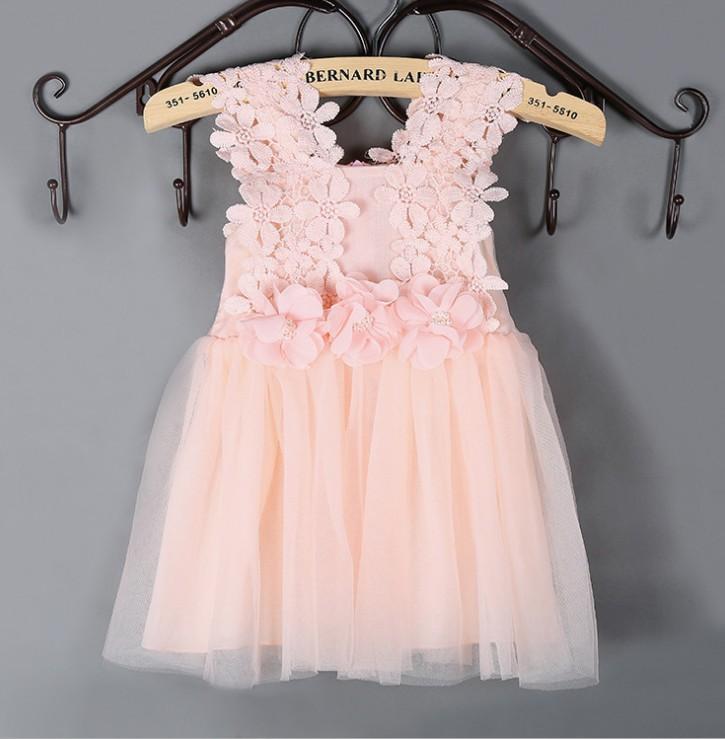 TF-00160710002 niñas flor vestido y Rosa/menta/Blanco/tul 6 color ...