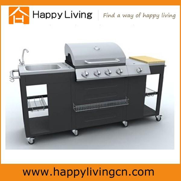 4 1 brenner edelstahl gro en outdoor k che gasgrill bbq. Black Bedroom Furniture Sets. Home Design Ideas