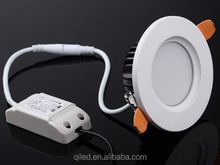 high lumin 3 inch round 6W led recessed light Pure white Samsung SMD5630 2700K 3000K