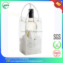recyclable transparent PVC wine cooler bag