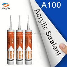 Paintable acrylic mastic sealant/general use silicone sealant Kingfix A100