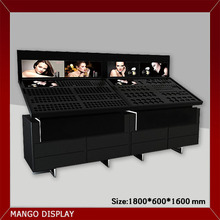 Black wood painting cosmetic display cabinet,showcase makeup shop furniture