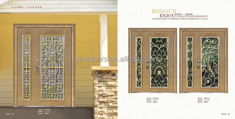 Double Door Stainless Steel Front Door Design Factory Direct Home