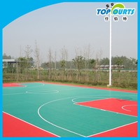 High quality Outdoor&Indoor safety basketball flooring