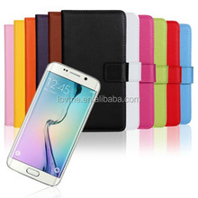 Genuine Leather Wallet Stand Case Protector Skin Cover for Samsung Galaxy S6
