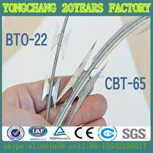 BTO-22 10kg/coil Concertina Razor Blade Wire