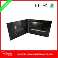 Promotion gift 7 Inch Lcd TFT Screen 2015 happy new year greeting card