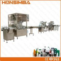 8 nozzles oral liquid full automatic filling machine line