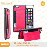 Free Shipping Wallet Leather Moible Phone Cover for Apple iphone 6 Case,protective cover for iphone 6 case with Credit Card Slot