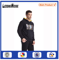 Fashion christmas winter wool knitted jacquard hot selling custom thick tall hoodie