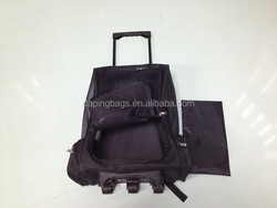 Dog Cat Puppy 2 Wheel Trolley Pet Bag Travel Rolling Carrier Crate