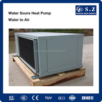 Running -35C cold winter high efficiency 5kw,9kw,15kw,18kw ground water to room air duct heating +cooling geothermal generator