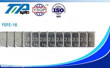 Fe adhesive wheel balance weights Zinc plated 2.5g