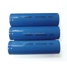 15C 18650 li-ion battery with 1500mAh 3.7V cell for RC car/helicopter