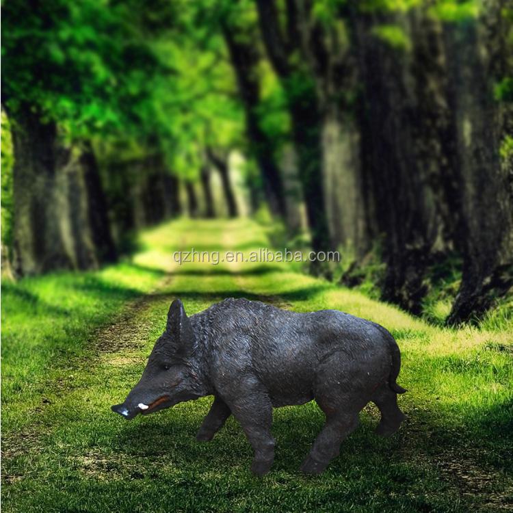 Chine Pas Cher Résine Jardin Animaux Sauvage Noir Petit Cochon Statue