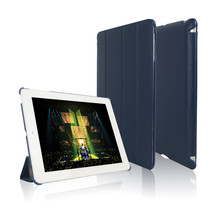 Dark blue Leather Case For Apple iPad Tablet Cover For iPad 4 Cases Fit For iPad 2