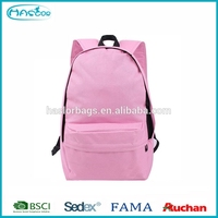 Wholesale custom pink cheap book bags for school student
