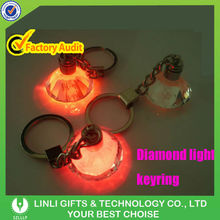 Supply 3D K9 Material Promotion Led Crystal Keychain Light