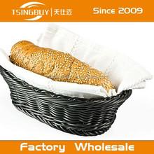 Plastic pp rattan woven wholesale bread round basket - fast food basket plastic