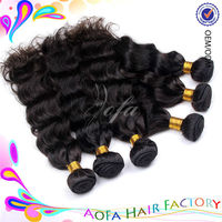 Machine made strong weft full cuticle high quality aliexpress wet & wavy hair