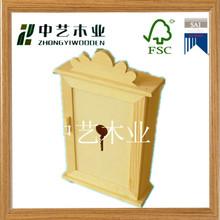 natural color de antigüedades de artesanías de madera llave de la caja