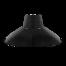 7.15-3 Enamel pendant lamp Enamel Dish Lampshade Black