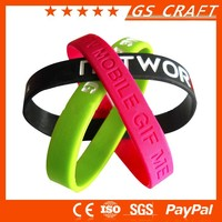 Customized single color personalized rubber wrist bands