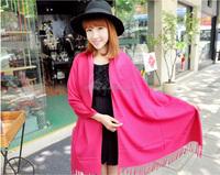 New Fashion Cotton Cashmere Solid Color Plain Shawl Scarf Wraps