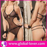 2015 latest arrival sexy black transparent lingerie girls models