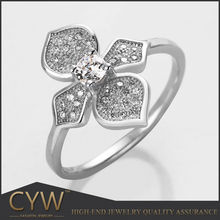 CYW Fashion 925 sterling silver flower ring bisuteria wholesale from China