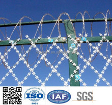 Razor Barbed Wire/barbed wire mesh fence