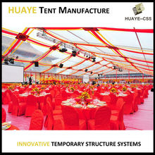 High class 20x40m evening used party tent wedding tent decoration with roof and wall linings curtains for sale marquee tent