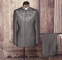 Traditional men suit style stand collar men suit form factory direct sale