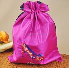 Custom printed drawstring shoe bags ,can print logo with small qty XD025