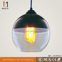 Italian famous designers lighting amber glass ball lamp and luminaire copper light