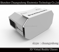 """New arrival White DIY Google Cardboard Virtual Reality VR Mobile Phone 3D Viewing Glasses for 5.0"""" Screen"""