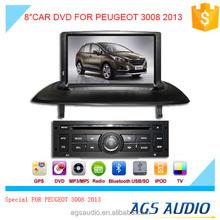 Ags spéciale 8 '' écran tactile lecteur dvd de voiture pour PEUGEOT 3008 2013
