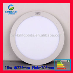 2014 newest CE and RoSH cetified 225mm18w round led panel light