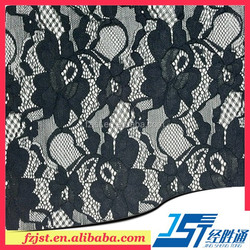 wholesale black sexy hollow out lace fabric in stock