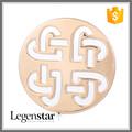 2015 de moda de la joyería China fabricante ronda Cut Out encantos nudo celta para la moneda Locket collar PJM066-RG